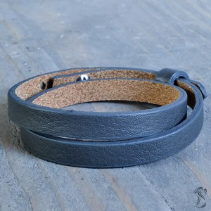 Cuoio armband anthracite grey (dubbel)