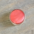 Cabochon slider mosso shiny peachy coral pink