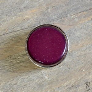 Cabochon slider velvet purple